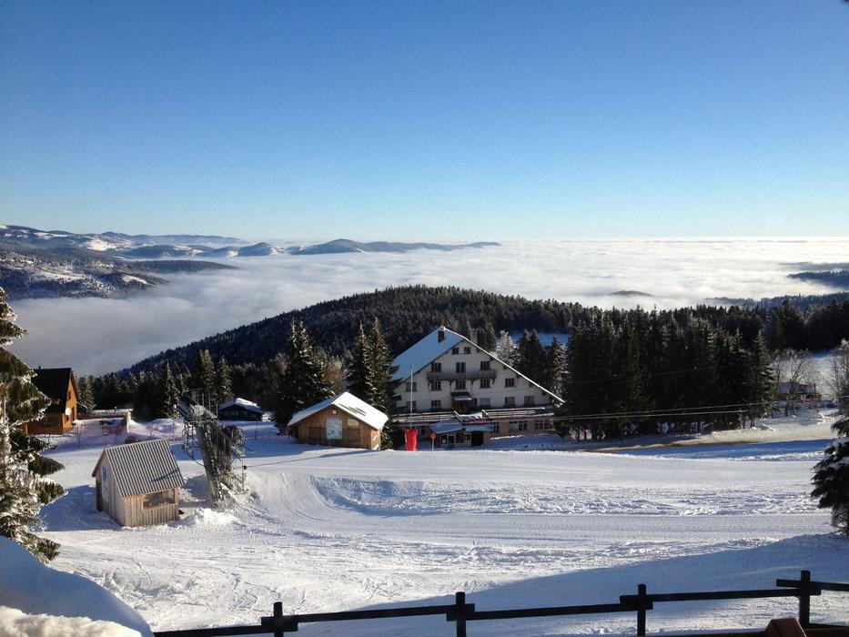 Le front de neige de la station de ski du Schnepfenried