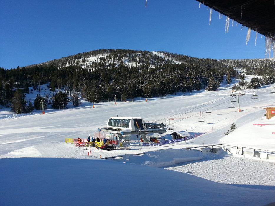 Die Pisten mit dem meisten Schnee in den letzten Tagen,- zu finden sind sie in Formiguères - © Station de ski de Formiguères