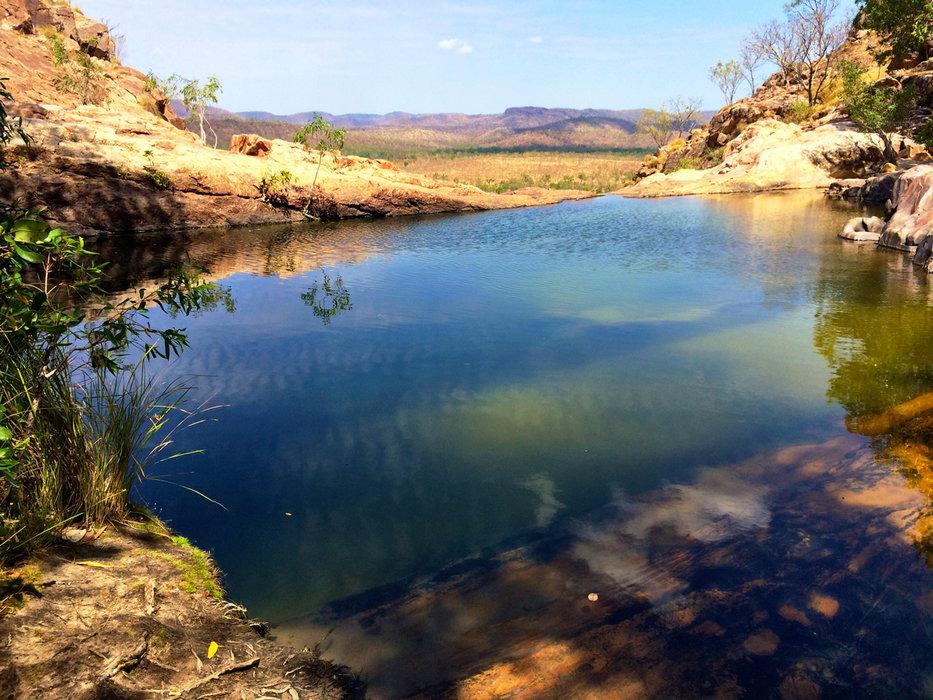 Badevergnügen im Kakadu Nationalpark - © Julia Mohr   Florian Reuter