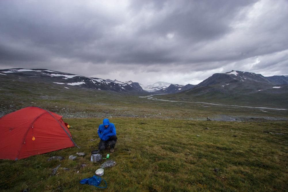 Zwischen den Gewittern bleibt kurz Zeit für Tortellini - © Frieda Knorke