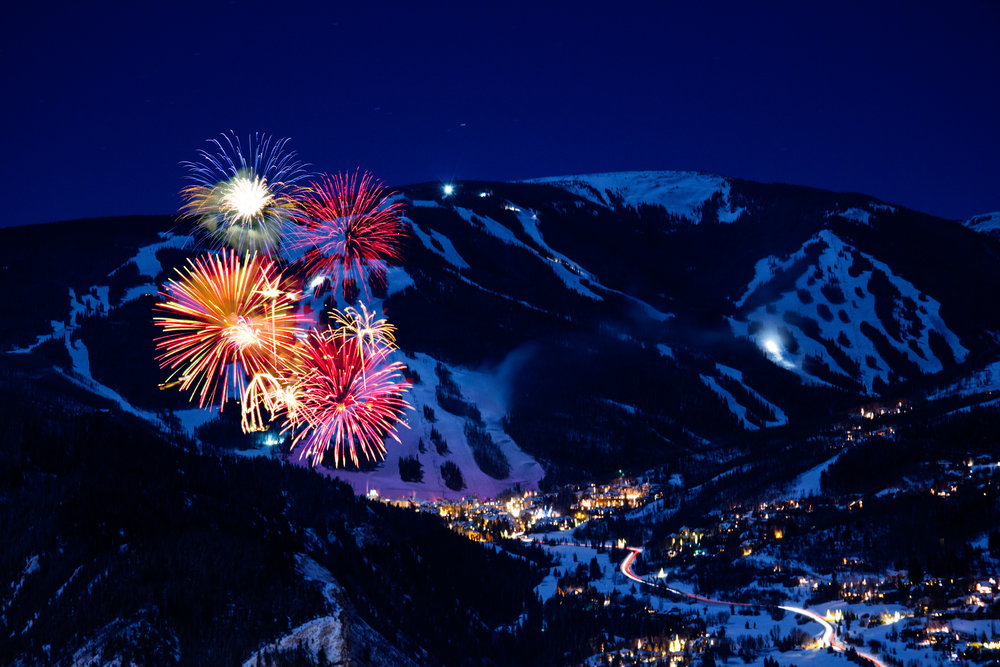 Fireworks over Beaver Creek, almost as impressive as the slopes themselves. - © Richard Spitzer