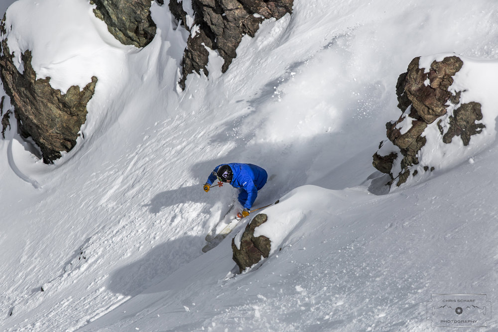 No shortage of snow covering Ski Portillo's steeps for those lucky enough to be down there right now. - © Chris Scharf Photography