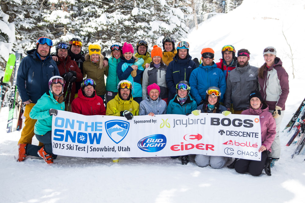 OnTheSnow 2015/2016 Ski Test Team, the finest-looking testers in the industry! - © Liam Doran