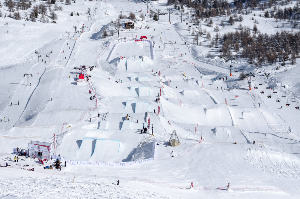 Top geshaped: Snowpark Vars - © OT Vars