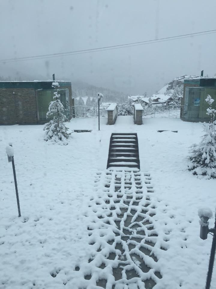 Sestriere, Neve fresca 02.10.15 - © Villaggio Olimpico Sestriere Facebook