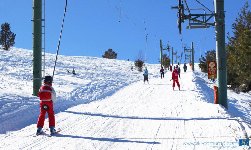 En route pour les pistes de ski de Camurac - © Sylvain Dossin / Station de ski de CAMURAC