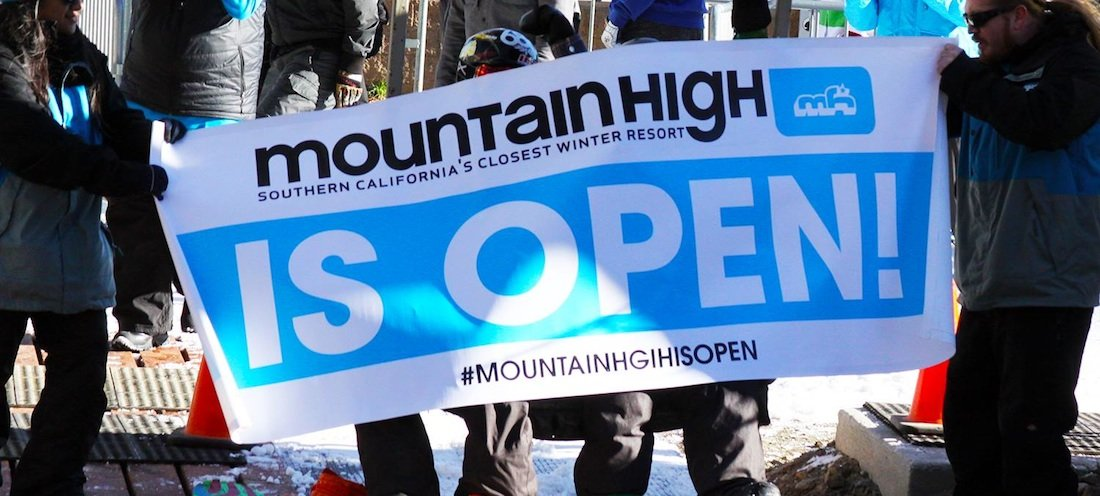 Mountain High's first chair of the 2015/16 season - © Mountain High