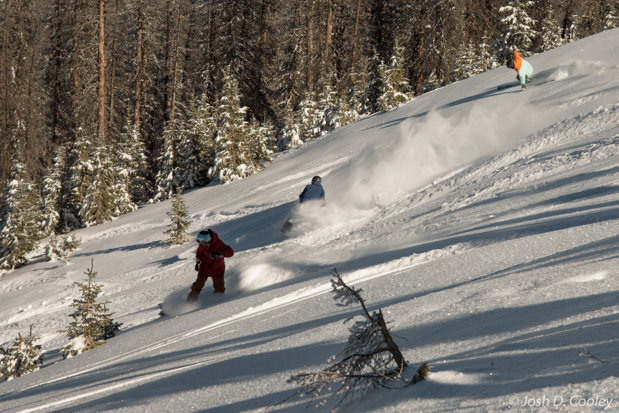 Riders Enjoy Fresh Powder Nov. 7 at Wolf Creek - © Josh Cooley