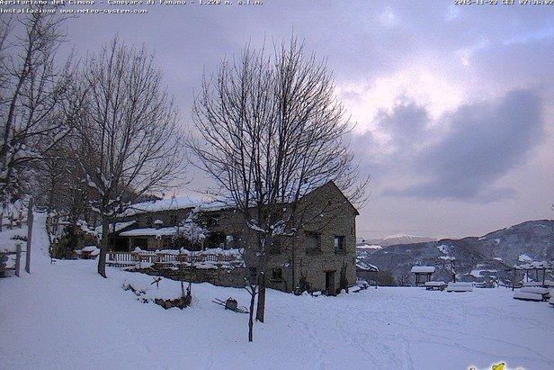Abetone, neve fresca 23.11.15 - © Abetone webcam