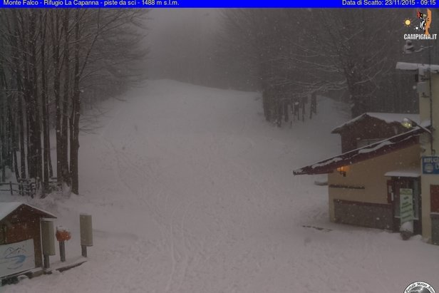 Campigna Monte Falco, neve fresca 23.11.15 - © Campigna Monte Falco webcam