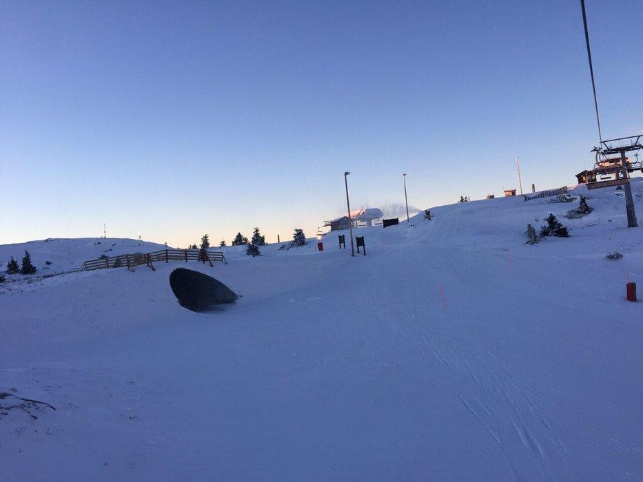 Nok snø og fine forhold på Kvitfjell - © Kvitfjell