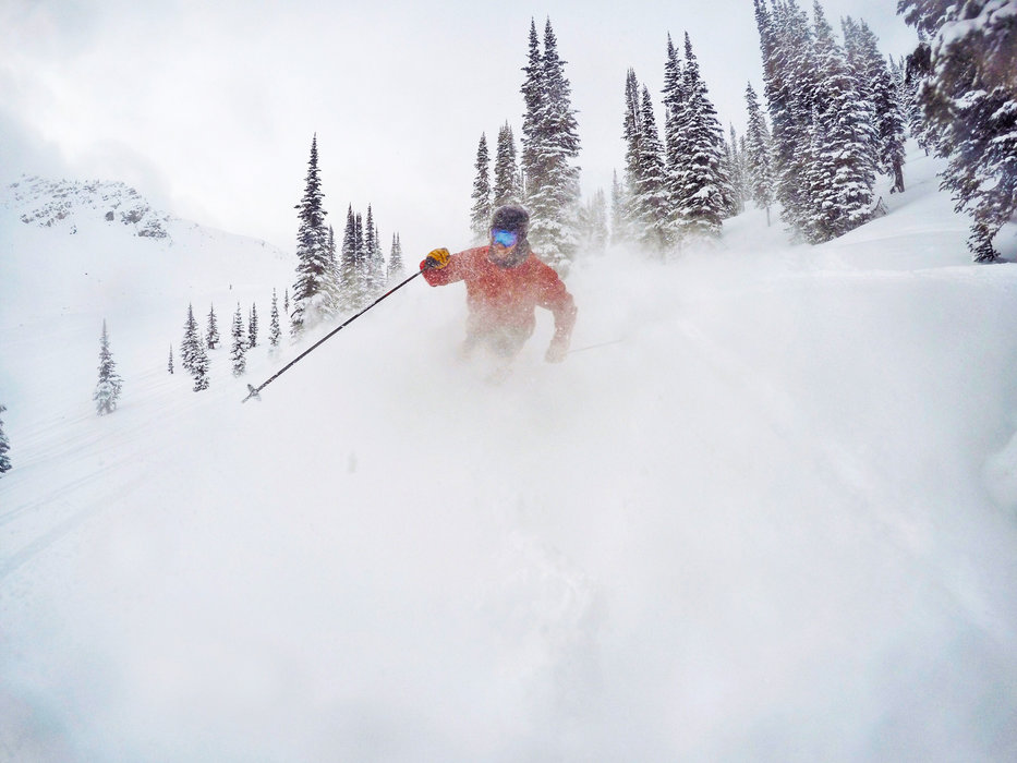 Skiing is completely wicked right now at Kicking Horse! - © Jeff Bartlett