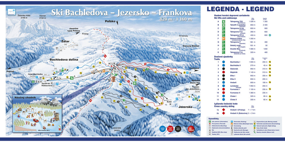 Nowa mapa tras ośrodka Ski Bachledova na sezon 2015/16 - © Ski Bachledka