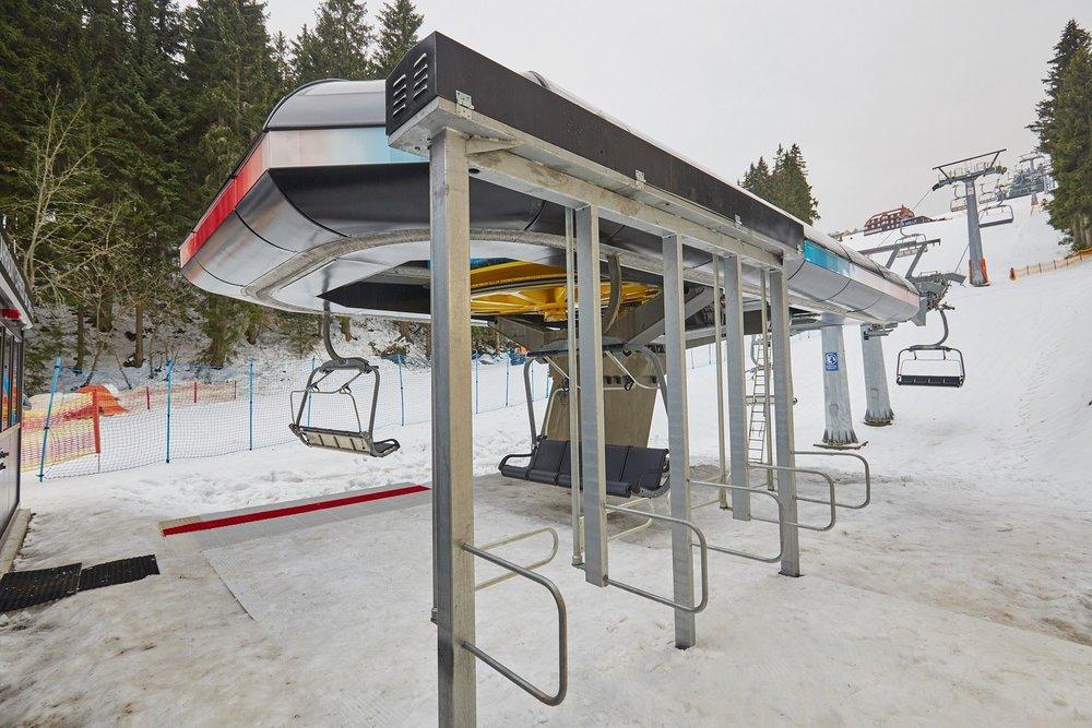 Nová sedačková lanovka Zahrádky Express se poprvé rozjela 4. prosince 2015 - © SkiResort Černá hora - Pec
