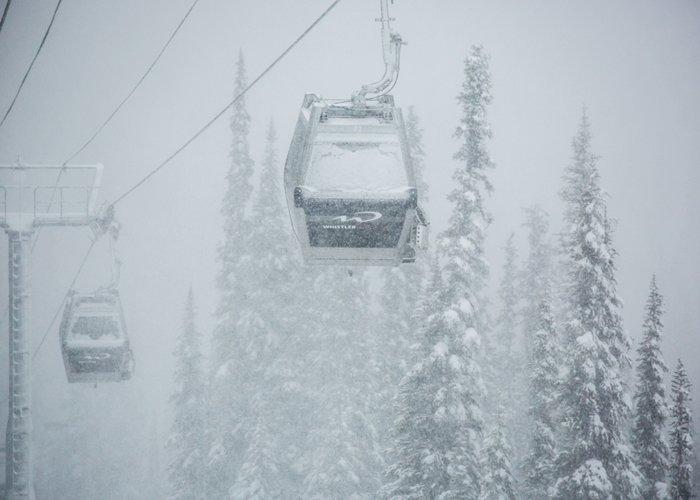 Snow covered Whistler gondolas - © Mitch Winton at Coast Mountain Photography