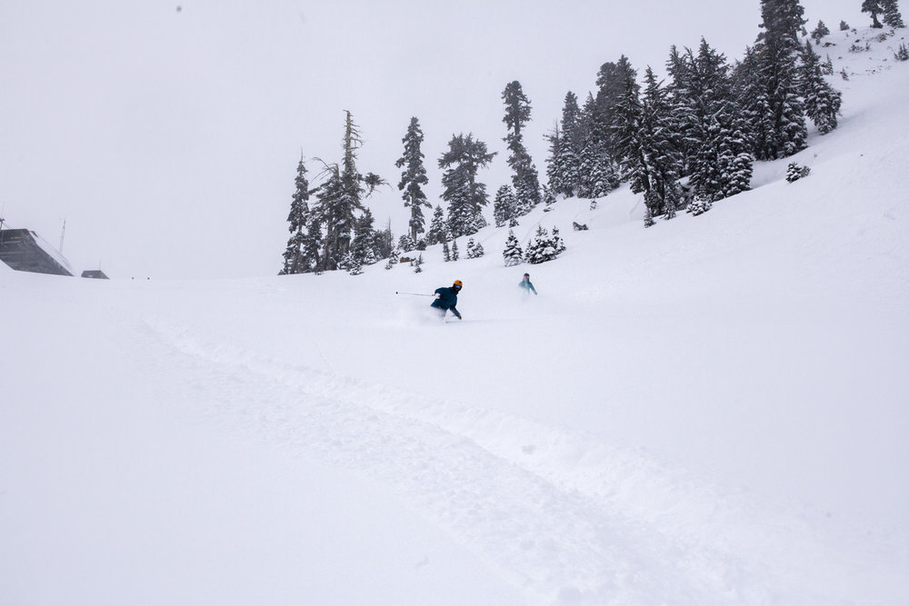 There's plenty more where these turns came from at Squaw Valley | Alpine Meadows this week! - © Ben Arnst