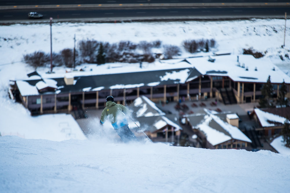 Loveland to I-70. To ski or to sit in traffic?  - © Liam Doran