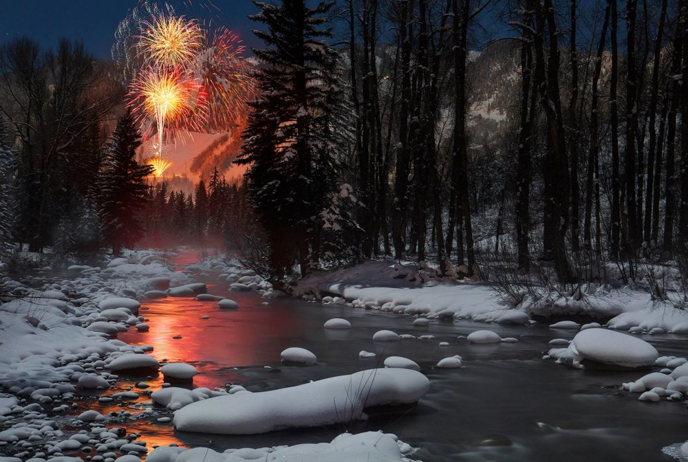 Aspen New Year's fireworks. - © Jeremy Swanson