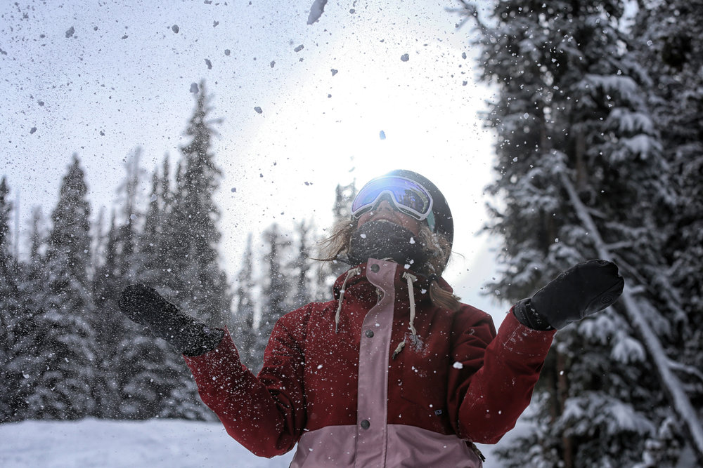Basking in the Copper powder glory. - © Tripp Fay, Copper Mountain Resort