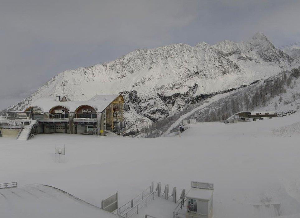 La neige est de retour aux Grands Montets...