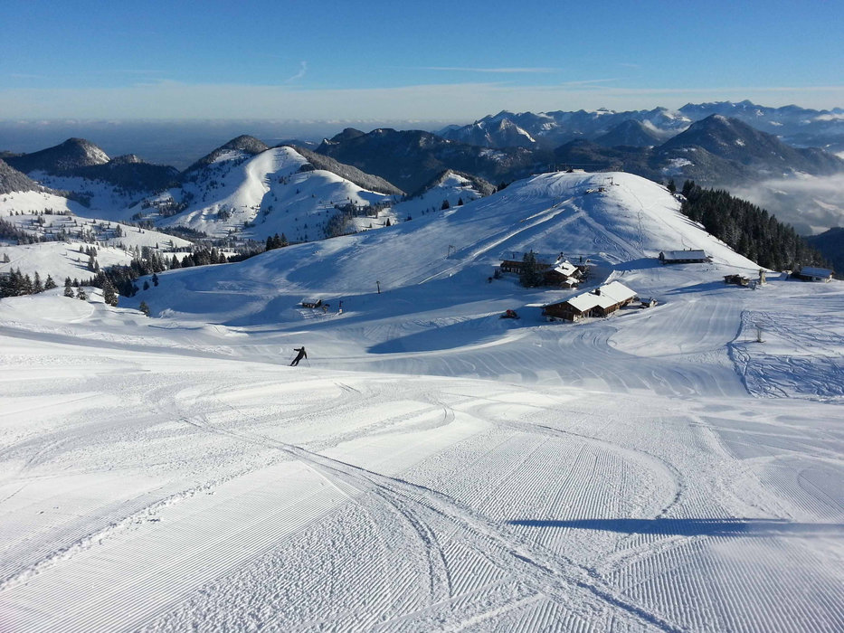 Hervorragende Pisten im Skigebiet Sudelfeld - © Bergbahnen Sudelfeld / Karina Seyfried