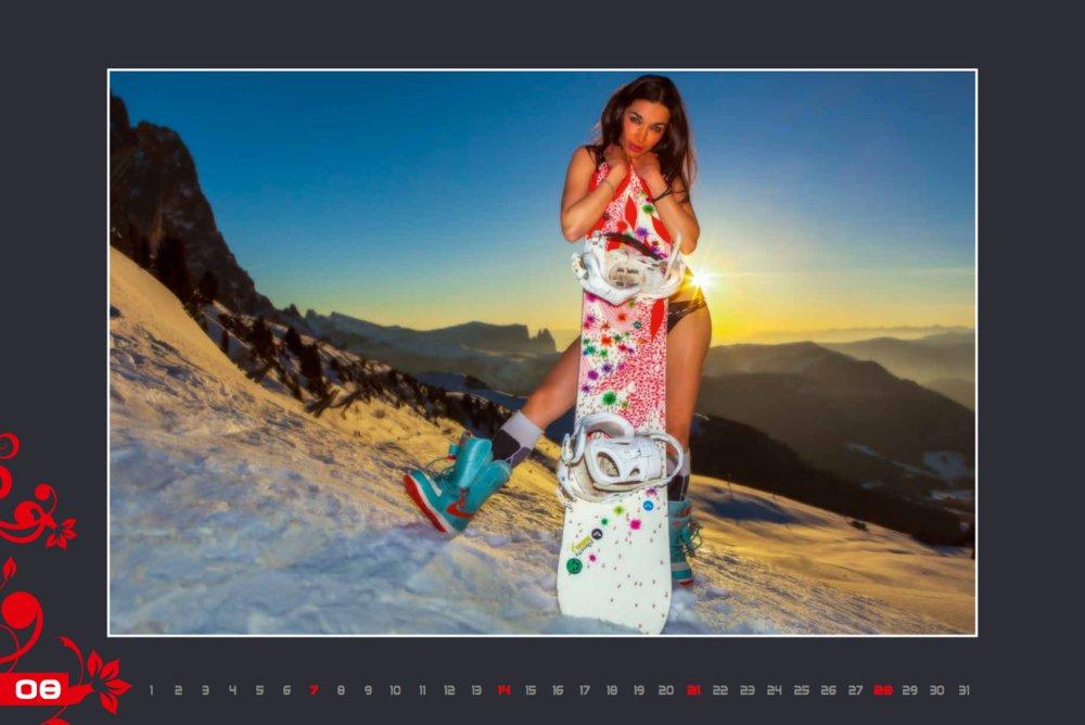 Kalendár lyžiarskych inštruktoriek z Val Gardena: August 2016 - © Scuola Sci Selva http://www.scuolasciselva.com - Robert Perathoner ski instructor & photographer - www.foto-prodigit.com