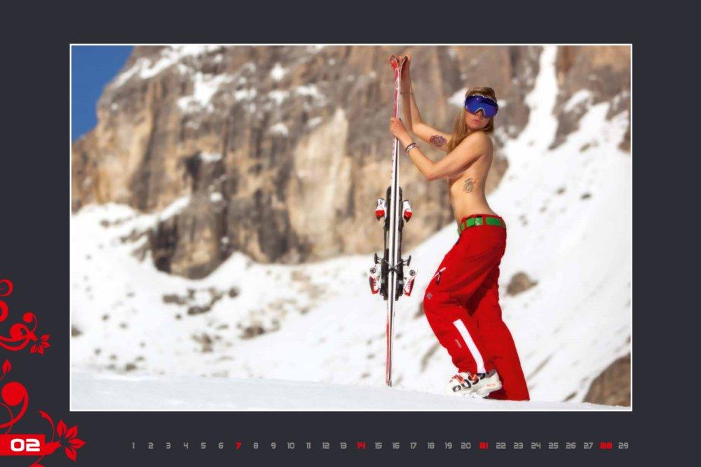 Kalendár lyžiarskych inštruktoriek z Val Gardena: Február 2016 - © Scuola Sci Selva http://www.scuolasciselva.com - Robert Perathoner ski instructor & photographer - www.foto-prodigit.com