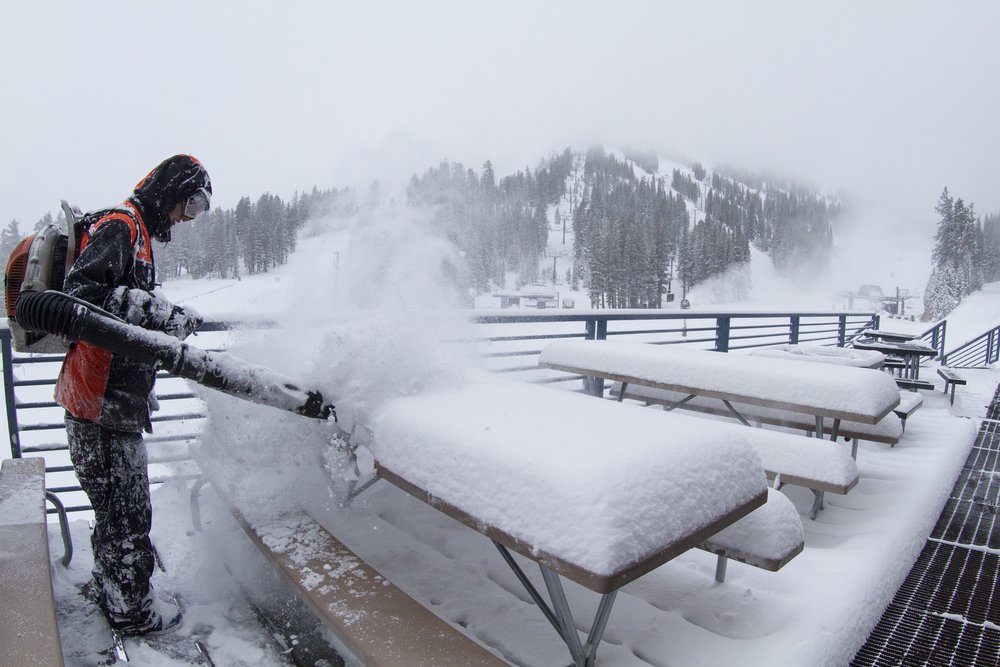 Storms delivered powder at Mt. Rose for its early November opening. - © Mt. Rose
