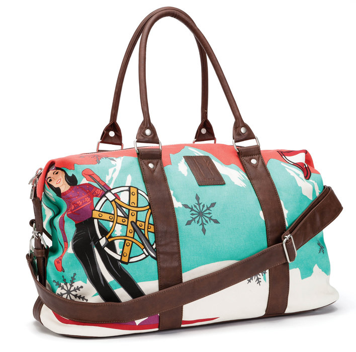 Neve Austria Weekender Tote: $100 Tote everything you need and more (including style) to the mountains with this canvas and faux leather hand bag.
