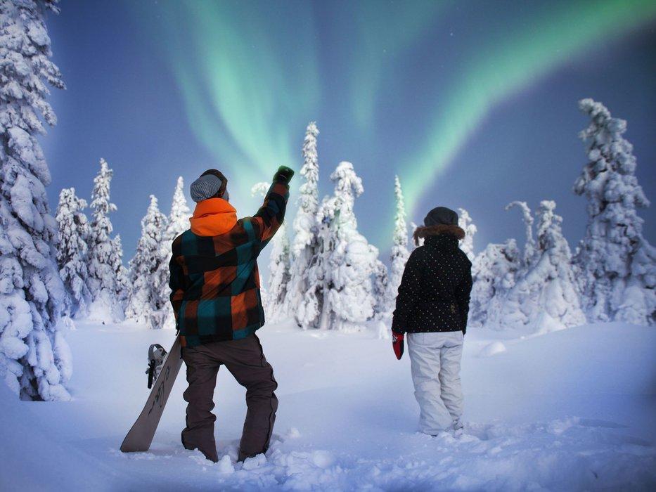 Northern lights over Finland - © Ruka Ski Resort
