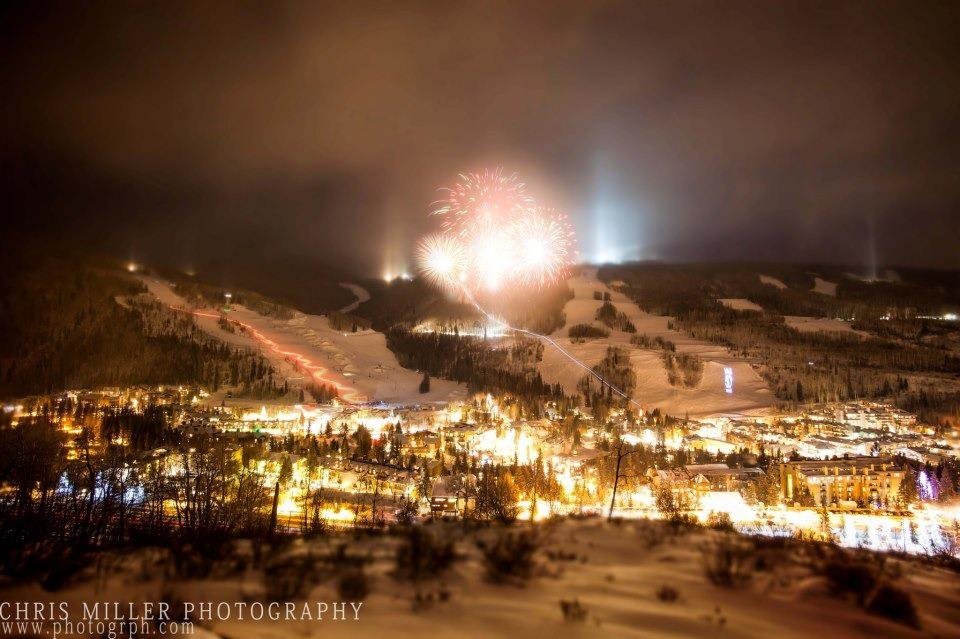 NYE fireworks in Vail - © Chris Miller Photography