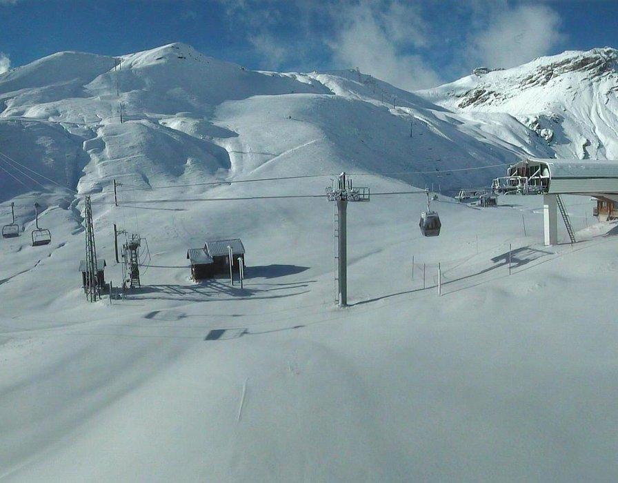 10 à 15 cm de neige fraîche sur le secteur de Manrouse à Orcières Merlette 1850 (21 nov 2015)