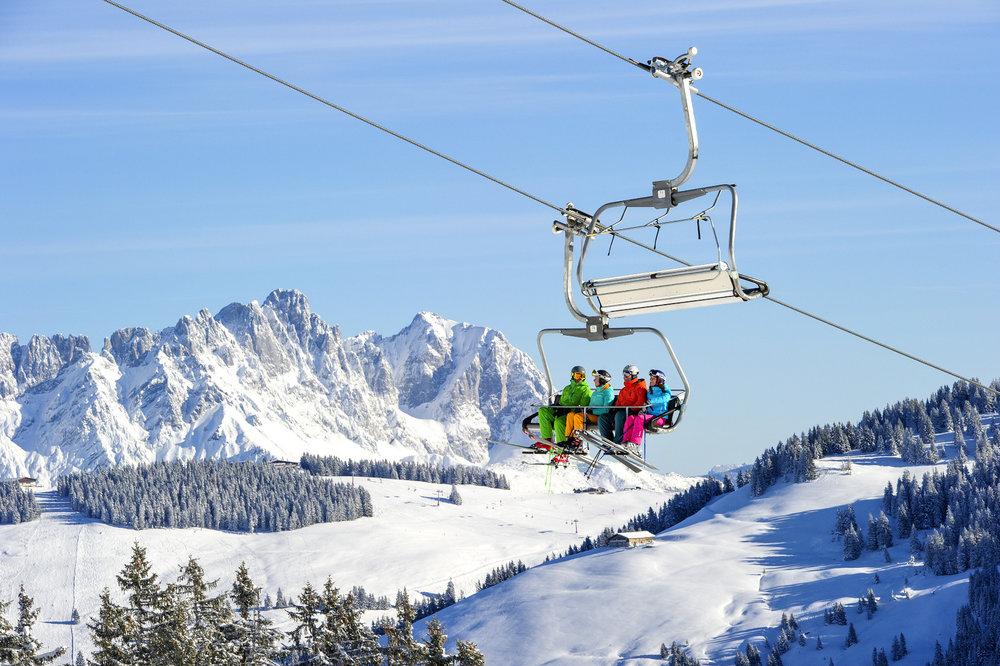 Sonniges Traumwetter am Wilden Kaiser - © SkiWelt Wilder Kaiser – Brixental / Christian Kapfinger