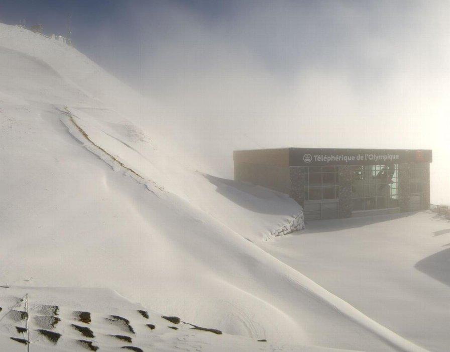 Val d'Isère sous la neige en ce 29 octobre 2015