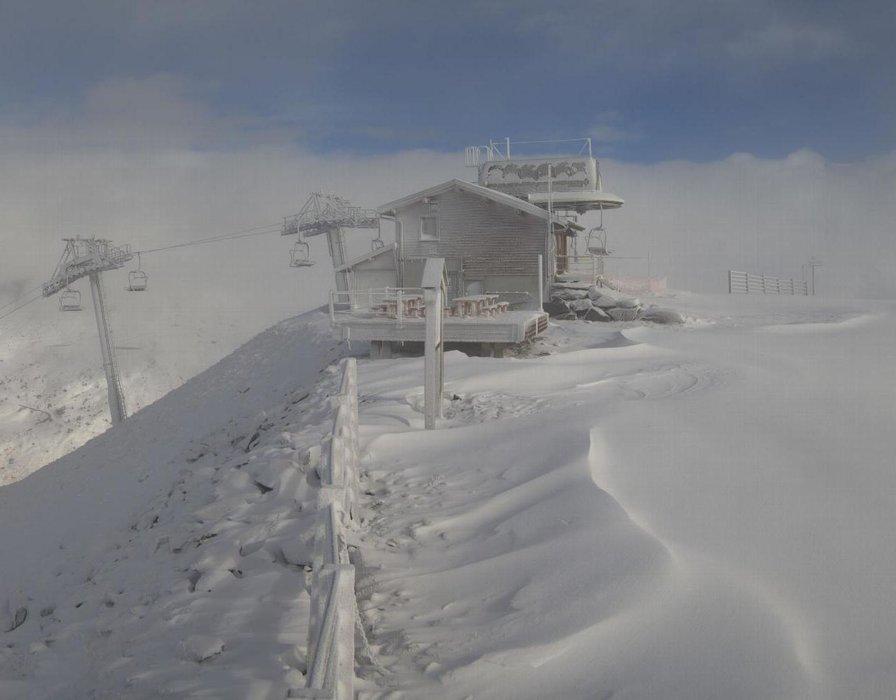Pas mal de vent ce matin en altitude comme ici à Valmeinier