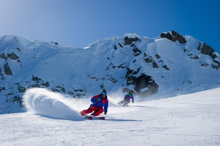 Enjoying sun and slopes at Whistler Blackcomb. - © Mike Crane/Tourism Whistler
