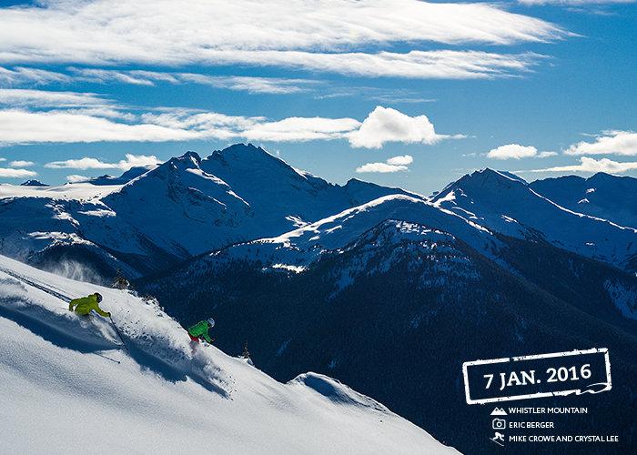 Powder is plentiful at Whistler this season. - © Eric Berger