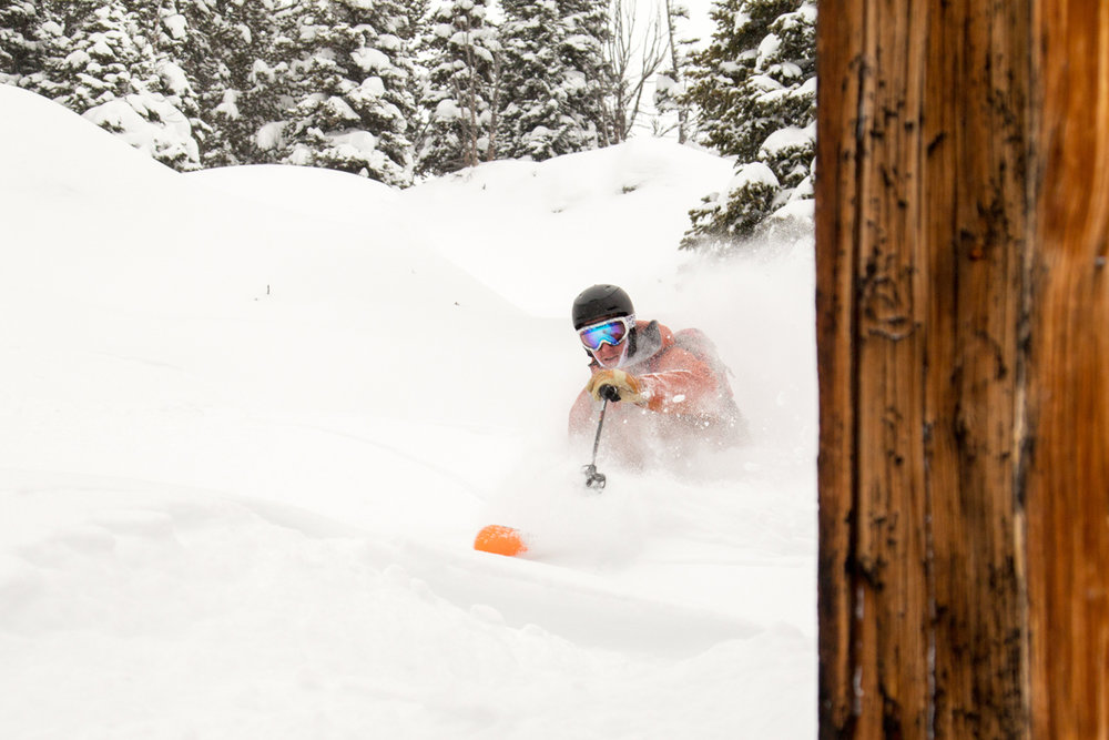 Sinking into powder over MLK weekend at Jackson Hole. - © Jackson Hole Mountain Resort