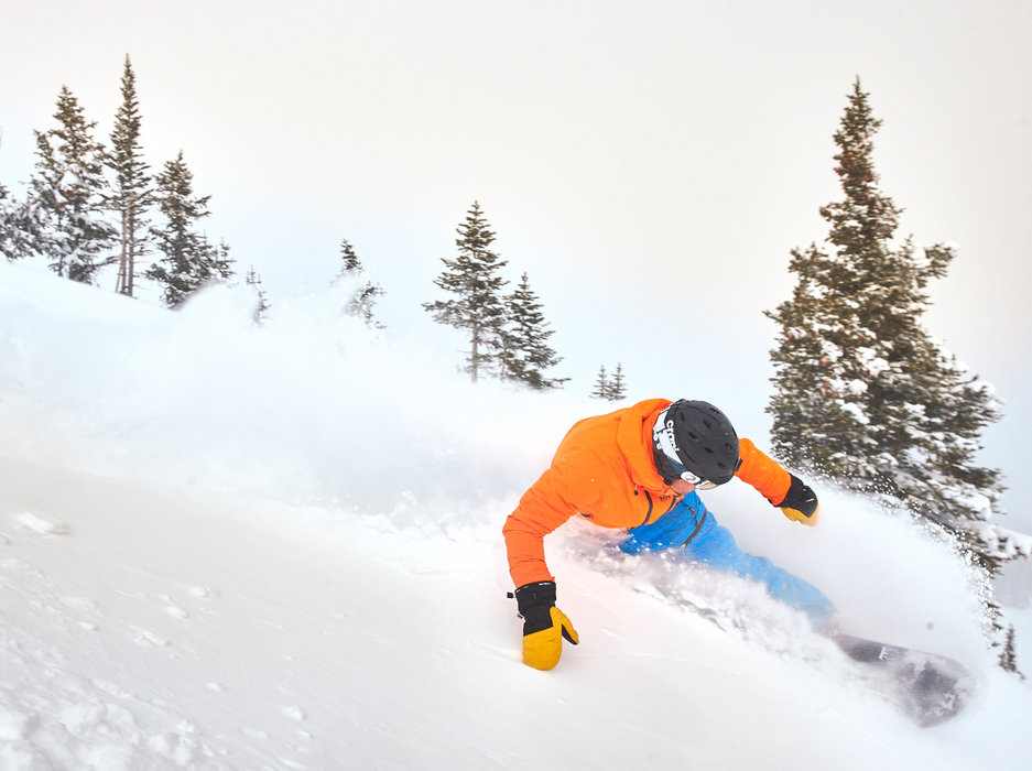 Sinking into the powder at Breckenridge at the start of MLK long weekend 2016. - © Breckenridge