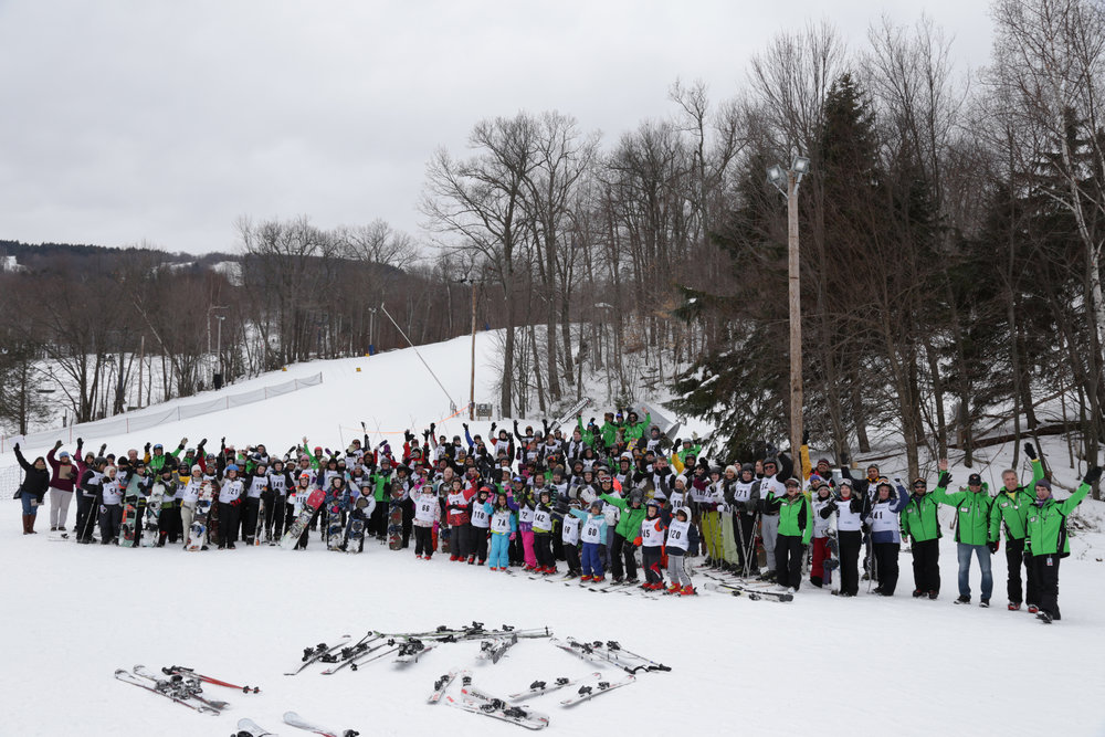 Wachusett had one of the biggest single-resort turnouts for World's Largest Lesson. - © Wachusett Mountain