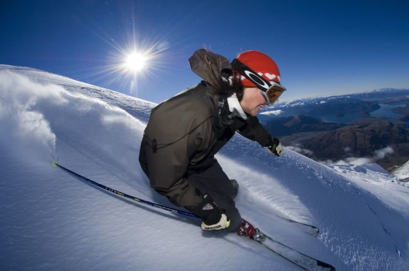Skier Andrea Skinner at Treble Cone in 2006.