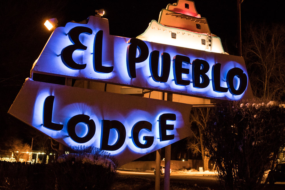 The El Pueblo Lodge in Taos comes highly recommended (#1 TripAdvisor) at a great price. - © Liam Doran