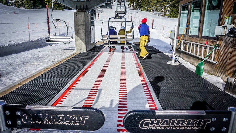 Hop aboard one of Bridger Bowl's new conveyor lifts.  - ©Eric Slayman