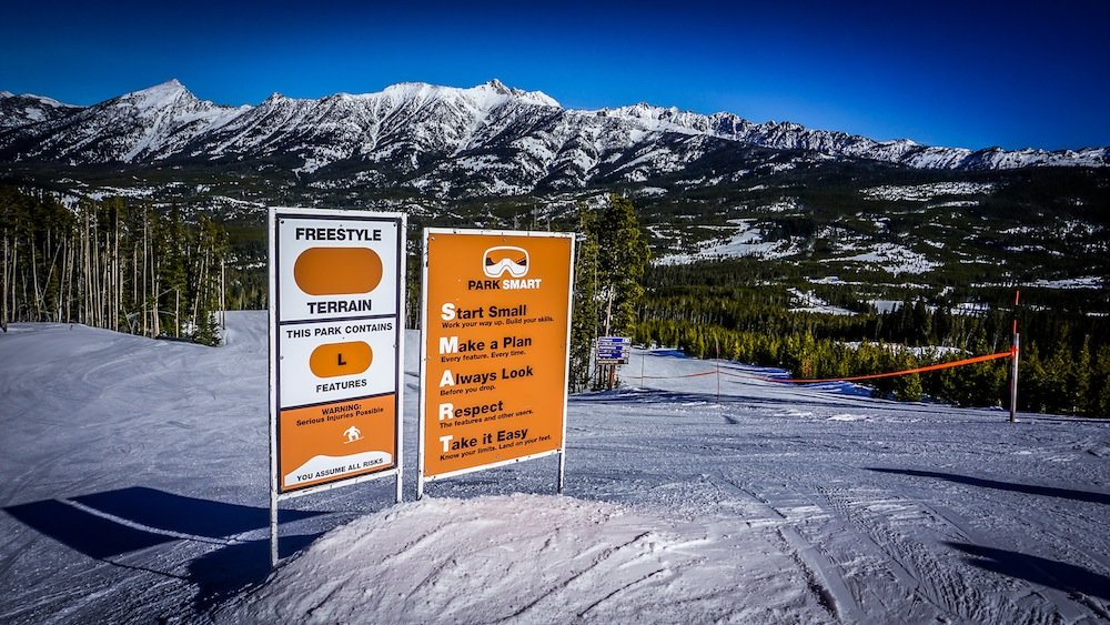 Big Sky Resort added multiple improvements to their terrain parks for the 2015-2016 season. - © Eric Slayman