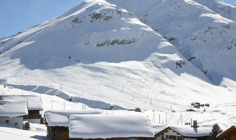 Blick Richtung Cavetta-Lift - © www.skilifte-avers.ch
