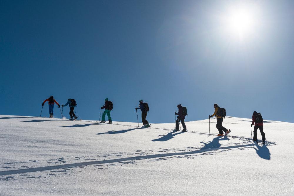 Skitour auf den Berg Uf da Flüe - © Yannick Andrea