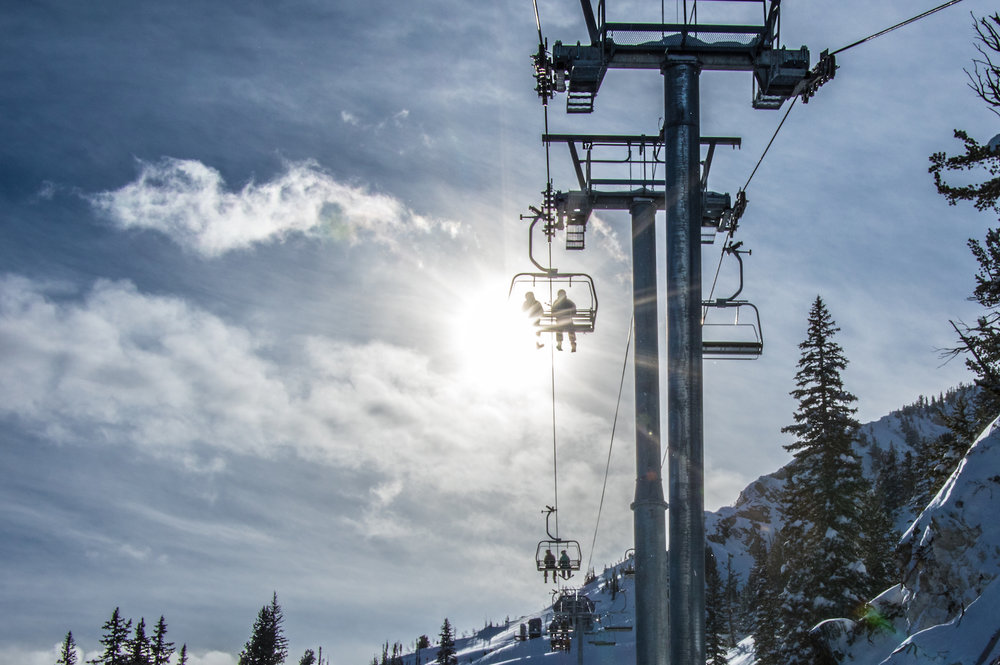 The Summit Express whisks skiers and riders to the highest point at Solitude. - © Solitude Mountain Resort