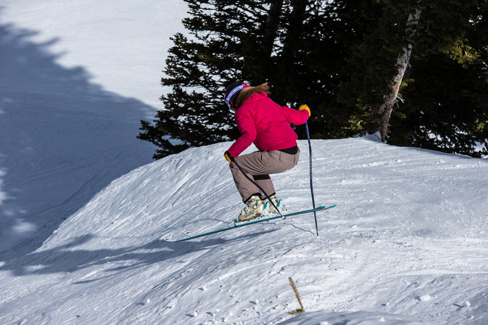 Our OnTheSnow testers make ski testing look good, fun (it is) and easy (it's not). - © Liam Doran