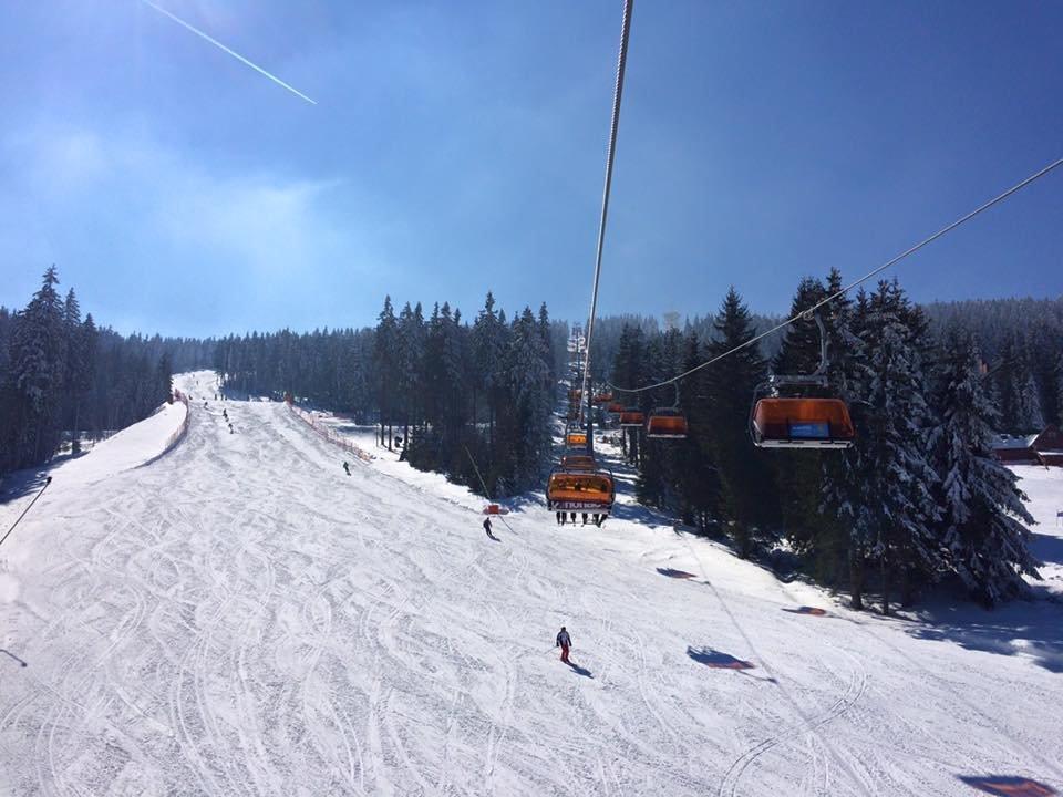 Podmínky už nemůžou být lepší - Klínovec 17.3.2016 - © facebook Skiareál Klínovec