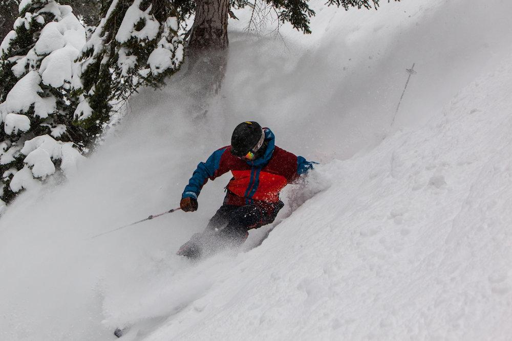 A skier seeking divine intervention at Heavenly. - © Heavenly Mountain Resort